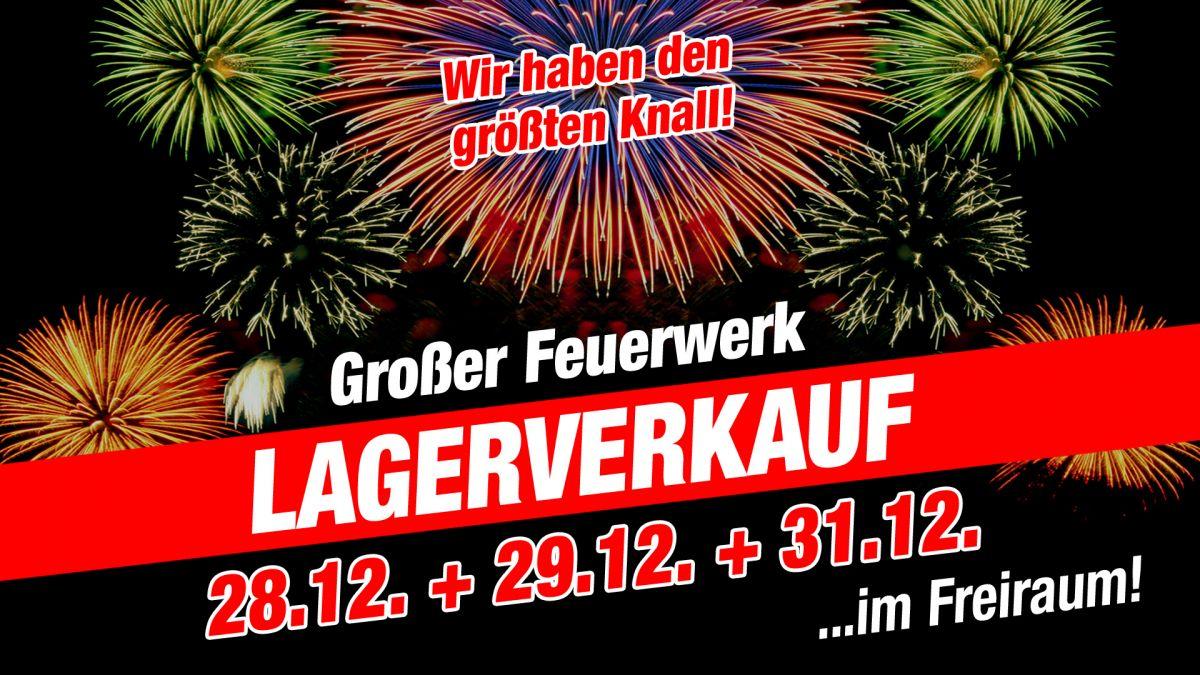 Tag 1: Großer Feuerwerk Lagerverkauf