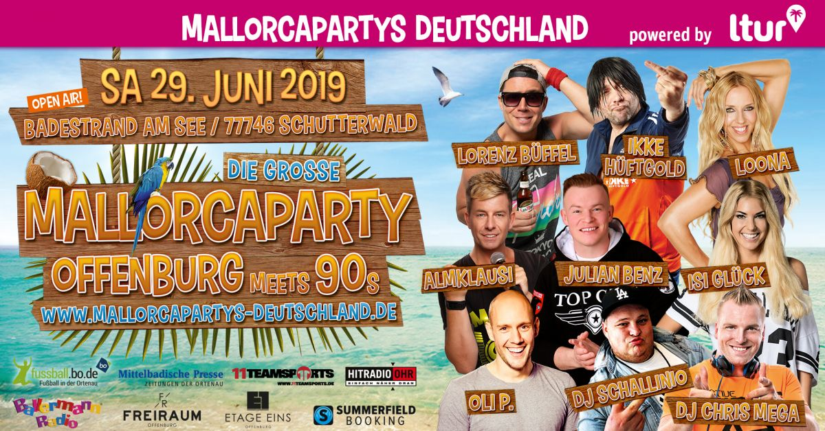 Mallorcaparty Offenburg meets 90s Open Air am Badestrand